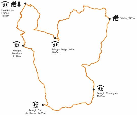 mapa refugios